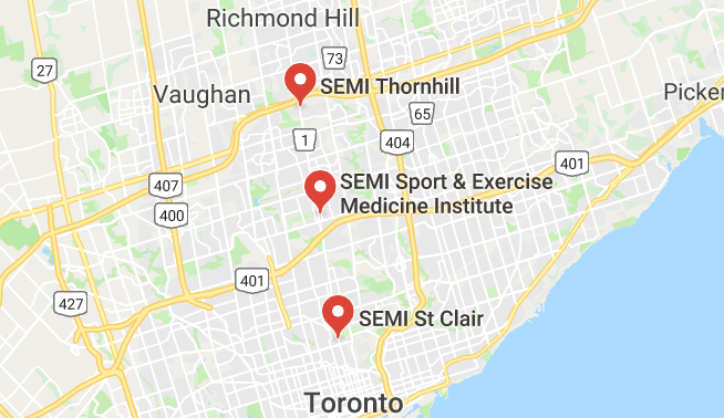SEMI locations in Toronto and Thornhill